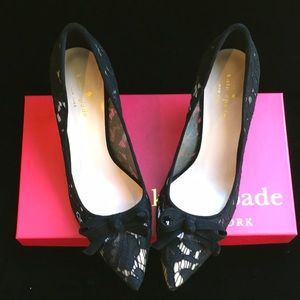 kate spade Shoes - Kate spade Midnight and lace and you. Ws222